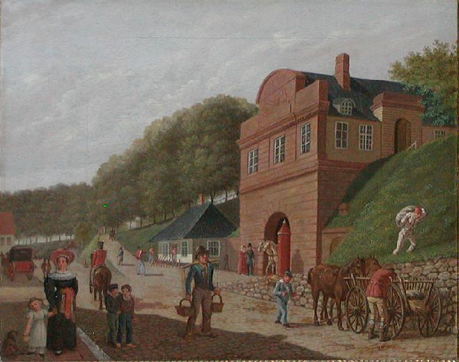 Nørreport ca. 1807.