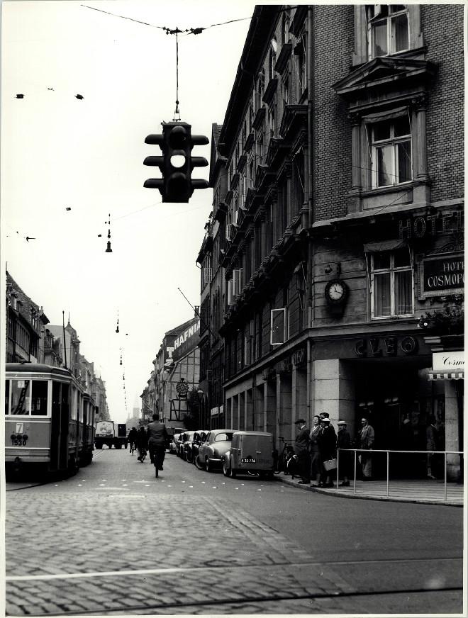 Gothersgade, 6. september 1956. Set fra Kongens Nytorv