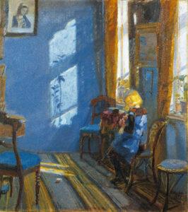 Anna Ancher - Solskin i den blå stue